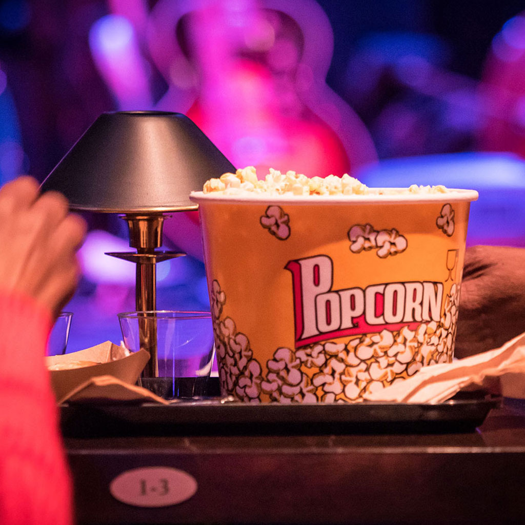 Enjoy a classic movie snack with friends.