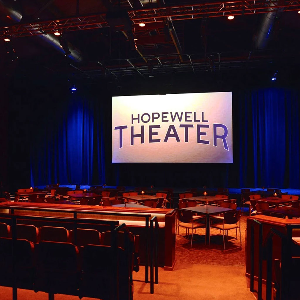 Experience our state of the art sound and lighting system with comfortable seating options.