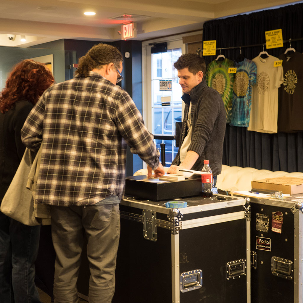 Take home merch from your favorite artist in our lobby.